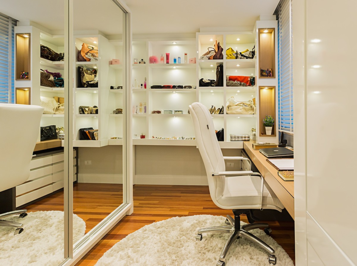 Pin exemplo de closet on pinterest Closet home office design ideas